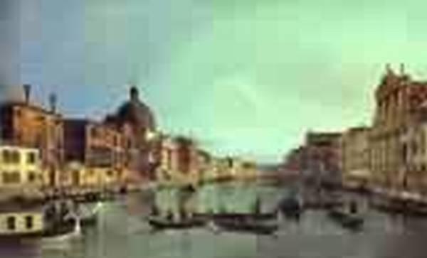 Grandanal looking south west rom thehiesa degli scalzi to th
